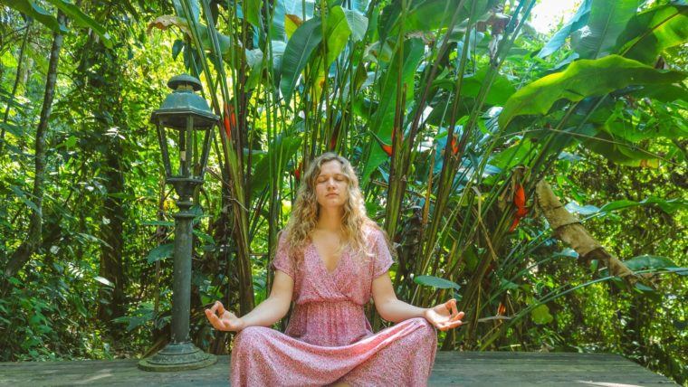 Why do you worry? She is meditating on feeling positive and purposeful.  Focus on what you can do not what you can't control.
